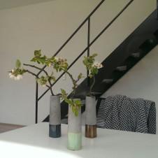 Einfamilienhaus Flachdach Treppe schwarz Platten Verkleidung skandinavisch Architektur nordisch